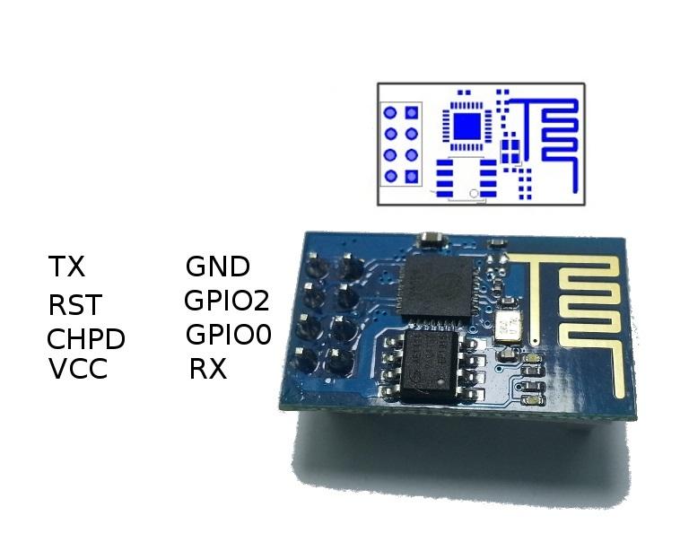 conexión modulo esp8266